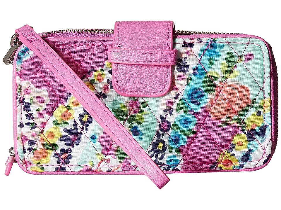 Vera Bradley RFID Smartphone Wristlet (Wildflower Paisley) Wristlet Handbags