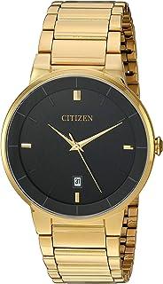 Men's BI5012-53E Quartz Gold Tone Stainless Steel Watch Case and Bracelet