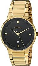 Best citizen men's goldtone black dial watch Reviews