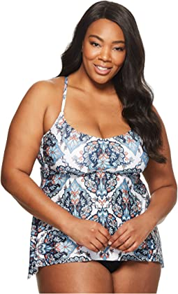 BECCA by Rebecca Virtue - Plus Size Naples Tankini Top