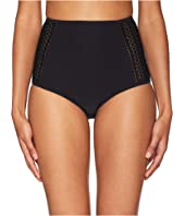Jonathan Simkhai - Crochet Combo High-Waist Bikini Bottom