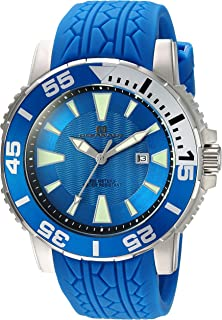 Oceanaut Men's 'Marletta' Quartz Stainless Steel and Silicone Watch, Color:Blue (Model: OC2918)