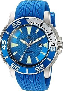 ساعة رجالي من Oceanaut من الفولاذ المقاوم للصدأ والسيليكون، اللون: أزرق (OC2918)