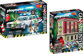 Playmobil Ghostbusters Ecto-1 with Ghostbusters Firehouse
