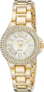 XOXO Womens Quartz Watch, Analog Display and Gold Plated Strap XO5770