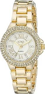 XOXO Womens Quartz Watch, Analog Display and Gold Plated Strap XO5770