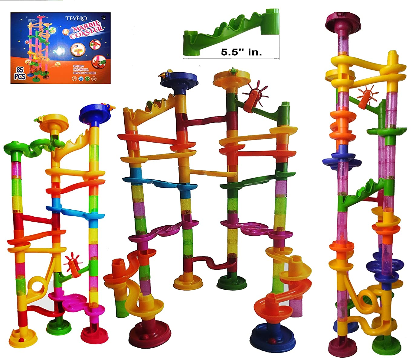 Tevelo Marble Run Coaster 85 Set, 240