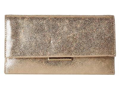 Loeffler Randall Tab Clutch (Champagne 1) Clutch Handbags