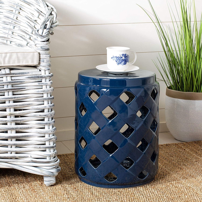 Safavieh ACS4574A Betli Ceramic Decorative Stool Navy Special price Department store Garden