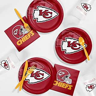 Creative Converting Kansas City Chiefs Tailgating Kit, Serves 8