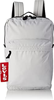 Levi's - The L Pack Big Tab, Shoppers y bolsos de hombro Hombre, Blanco (Noir Regular White), 12x29x45 cm (W x H L)