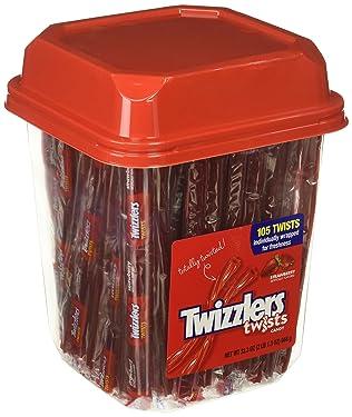 Twizzlers Licorice Candy, fresa, 33.3 onzas lata