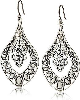 Lucky Brand Womens Sahara Dust Filigree Oblong Earring