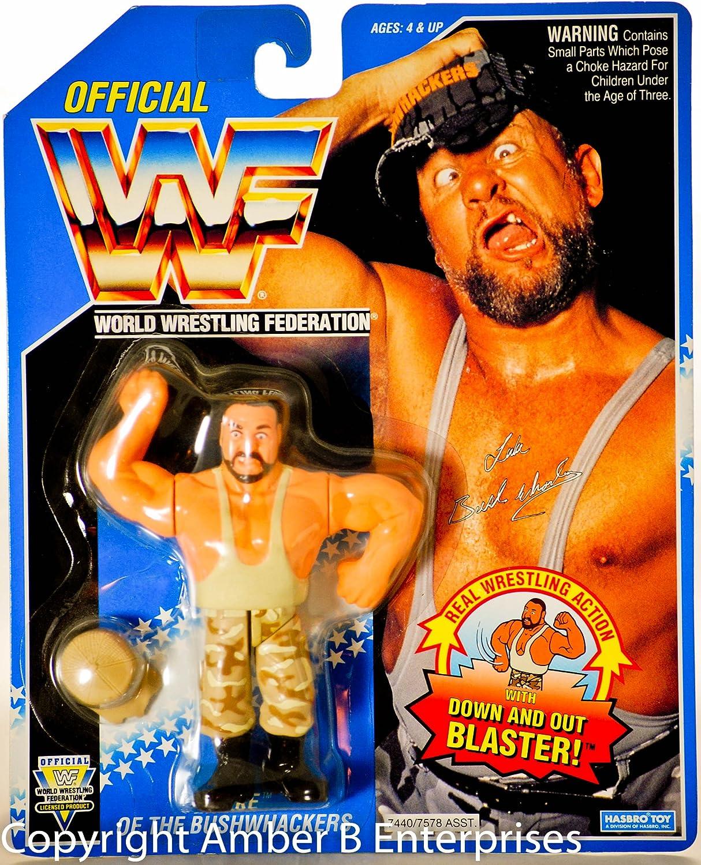 WWF Bushwacker LUKE Wrestling Action Figure on bluee Card WWE WCW ECW by WWE