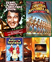 Show Rockettes at Radio City Spectacular Broadway Christmas + Perry Como's TV Special & Disney Babes in TOyland & Fireside Reflections TV Fireplace DVD Holiday 4-Pack