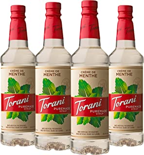 Torani Puremade Crème De Menthe Syrup, 750 ml (Pack of 4)