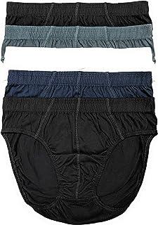 The Briefery Men's 100% Cotton Modern Fit Low Rise Sport Briefs (5 Pack)