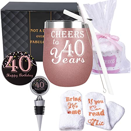 40th Birthday Gifts for Women, 40th Birthday Decorations for Women, Turning 40 Gifts for Women, 40 Birthday Tumbler, 40th Birthday, 40th Birthday Gifts, 40 and Fabulous Gifts for Women