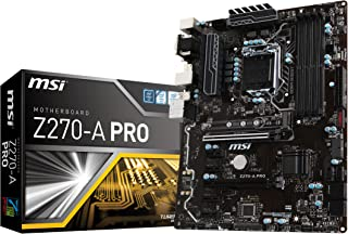 MSI Z270-A Pro - Placa Base Pro (chipset Intel Z270, DDR4 Boost, Audio Boost, Military Class 5)