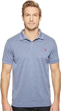 Polyester Heather Pique Polo Shirt