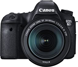 Canon EOS 6D 20.2 MP CMOS Digital SLR Camera with EF 24-105mm is STM Kit - Wi-Fi Enabled