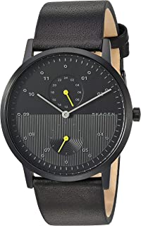 Skagen Reloj Analógico para Hombre de Cuarzo con Correa en Cuero SKW6499