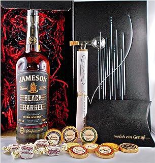 Geschenk Jameson Black Barrel irischer Whiskey  Glaskugelportionierer  Edelschokolade  Fudge