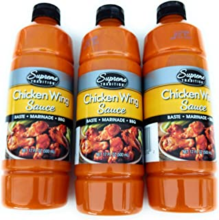 Hot Sauce for Wings Chicken Wing Sauce Baste Marinade BBQ (3-Pack)