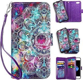 Vofolen 2-in-1 Case for iPhone 8 case iPhone 7 SE 2020 Wallet Card Holder Slot Detachable Strap Protective Slim Hard Shell...