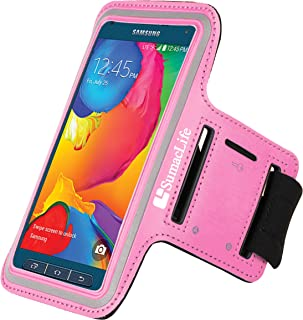 Premium Sports Exercise Gym Sport Armband case with Key Holder for HTC 10, HTC One A9, M9, HTC Desire 626 Series, HTC Desire Eye, Pink