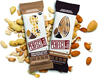 Perfect Bar Original Refrigerated Protein Bar, Chocolate Lover's Variety Pack Peanut Butter & Almond Butter, 12-15g Whole Food Protein, Gluten Free & Non-GMO, 2.2-2.3 Oz. Bars (24 Bars)