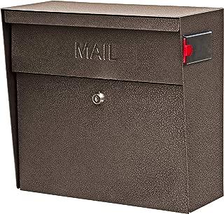 Mail Boss 7164 Metro Locking Security Wall Mount Mailbox, Bronze