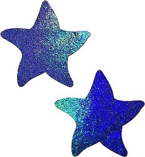 Starfish: Liquid Spectrum Blue Sea Star Nipple Pasties by Pastease o/s