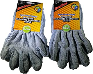 Autozone Microfiber Interior Cleaning Dusting Glove Complete Car Care System - Bundle of 2