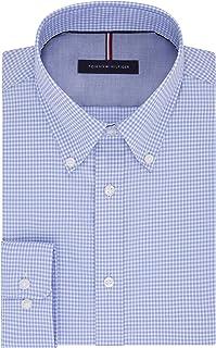 Tommy Hilfiger Men's Dress Shirt Slim Fit Non Iron Gingham