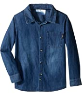 Kardashian Kids - Chambray Shirt with Contrast Pocket Detail (Toddler/Little Kids)
