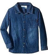 Kardashian Kids - Chambray Shirt with Contrast Pocket Detail (Toddler/Little Kids)