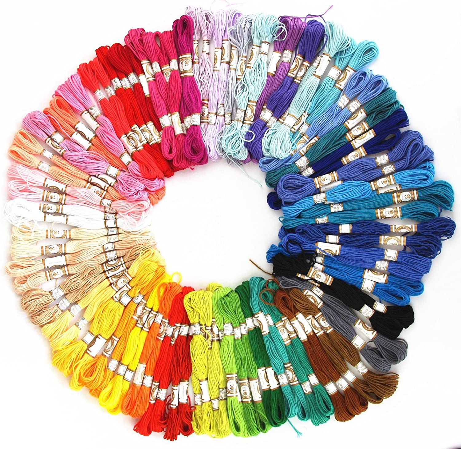 RayLineDo Embroidery Thread 100 PCS Deal Skeins Stranded Rare Embroid Popular products