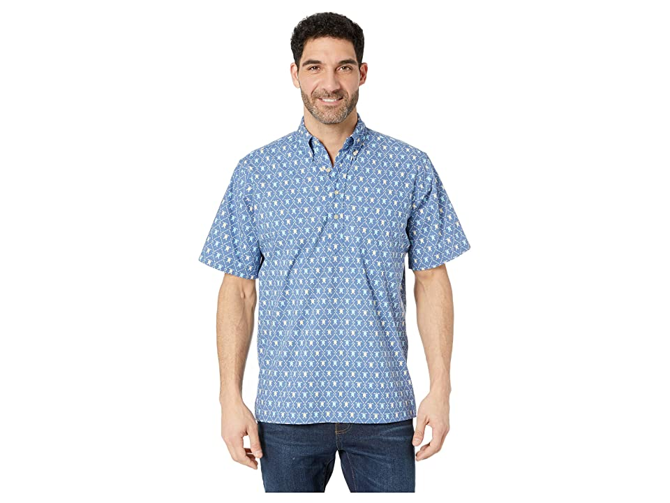 Reyn Spooner Royal Honu Classic Fit Popover Hawaiian Shirt (True Navy) Men