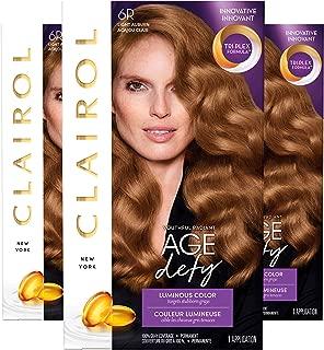 Clairol Age Defy Permanent Hair Color, 6R Light Auburn, 3 Count