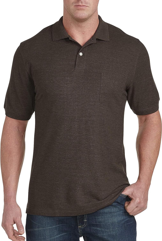 Harbor Bay by DXL Big and Tall Pocket Piqu233; Polo Shirt