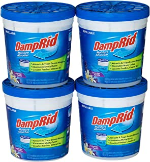 DampRid Lavender Vanilla Refillable Absorber Traps Moisture for Fresher, Cleaner Air, 4 Pack, Blue, 10.5 Ounces