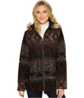 KC Collections - Hooded Aztec Faux Wool