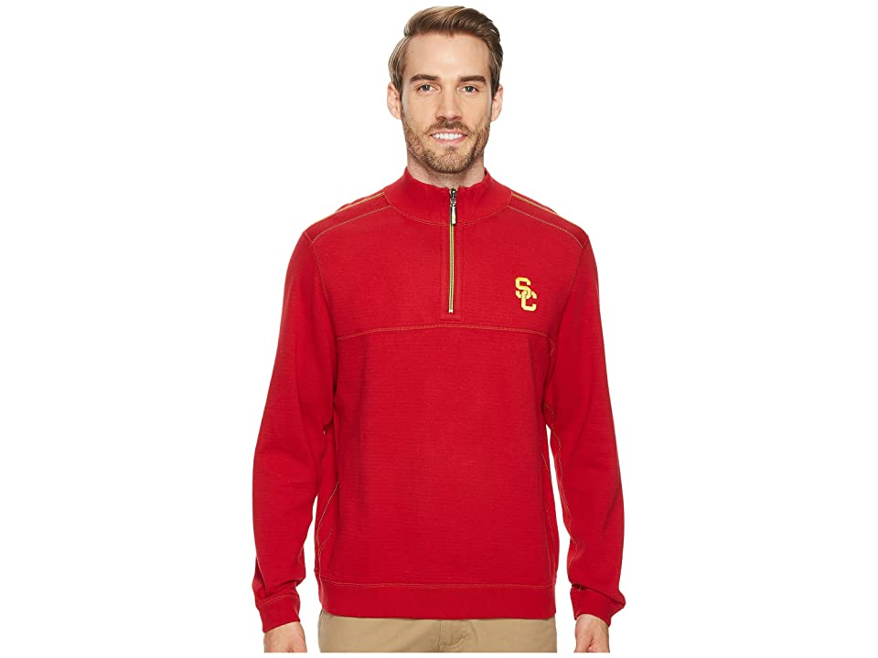 Tommy Bahama USC Trojans Collegiate Campus Flip Sweater (University of Southern California) Men