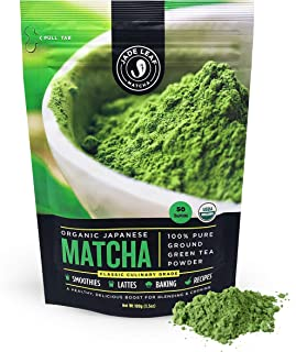 Jade Leaf - Organic Japanese Matcha Green Tea Powder - USDA Certified, Authentic Japanese Origin - Classic Culinary Grade (Smoothies, Lattes, Baking, Recipes) - Antioxidants, Energy [100g Value Size]