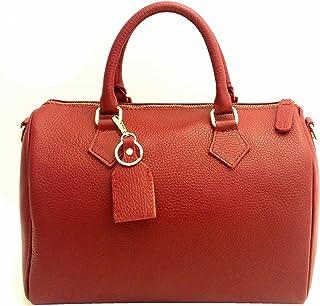 94590bff9d DEEP ROSE Sac Bauletto ch véritable cuir femme Made in Italy Avec  Bandoulière Épaule à main