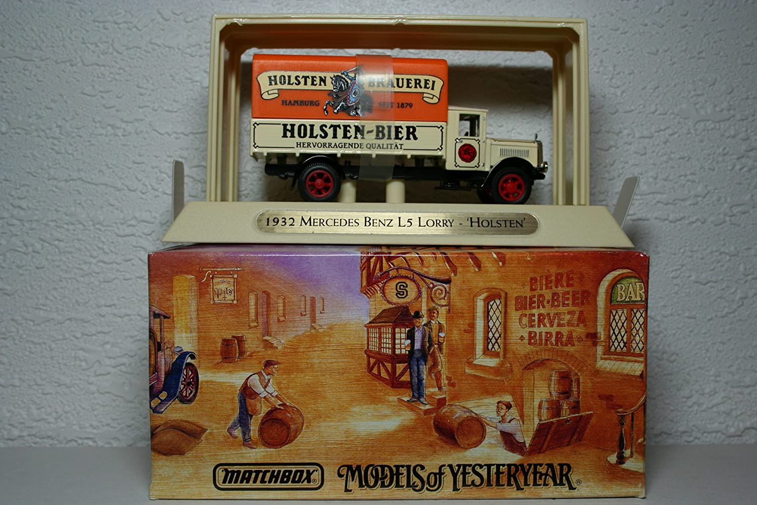 Matchbox Models of Yesteryear Great Beers of the World 1932 Mercedes Benz L5 Lorry Holsten