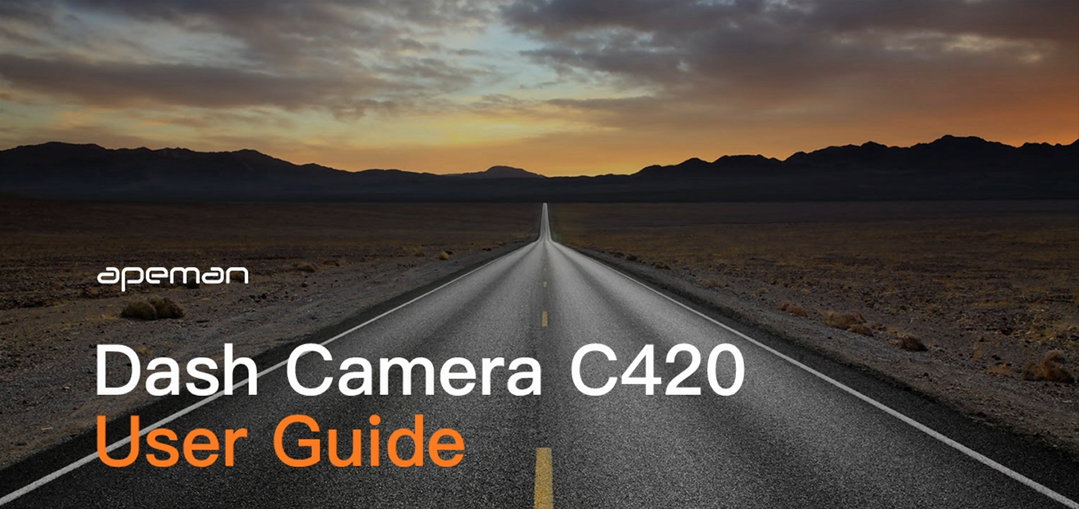 APEMAN Mini Dash Cam 1080P Car Camera Driving Recorder Night Vision, 170° Wide Angle, Motion Detection, Parking…