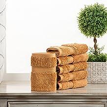 مجموعة مناشف حمام ناعمة من سوبريور للحمام، 6 قطع للوجه، صدأ، 6 قطع