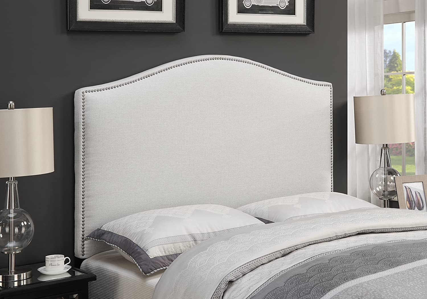 Charlotte Mall Right2Home King Size Upholstered Max 82% OFF Headboard Divan White